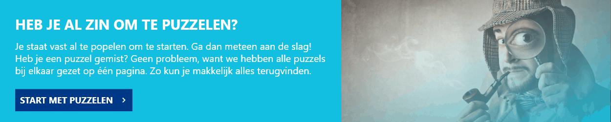 Mystery Puzzel - Puzzeloverzicht