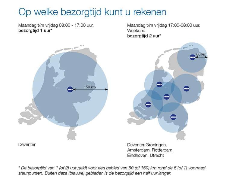 bereikbaarheid Nederland